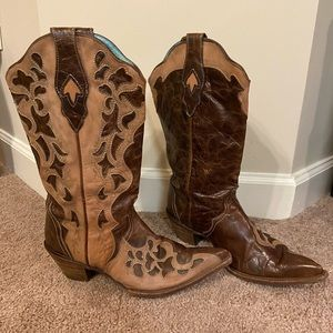 Corral brown cowboy boots size 10 1/2